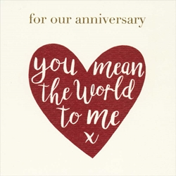 World to Me - Anniversary Card