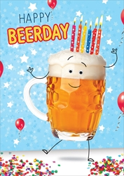 Beerday - Birthday Card