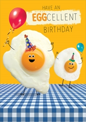 Eggcellent - Birthday Card