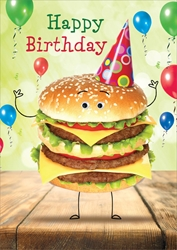 Hamburger - Birthday Card