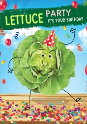 Lettuce Party - Birthday Card