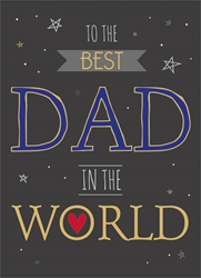 Best in World - Fathers Day Card