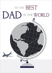 Best Globe - Fathers Day Card