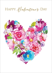 Flower Heart - Valentines Day Card