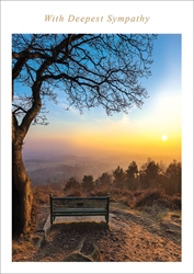 Bench Sunset - Sympathy Card