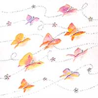 Butterflies - Blank Gift Tags