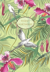 Tropical Orchids - Birthday Cards