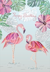 Flamingos - Birthday Cards