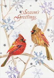 Birds Seasons Greetings - Christmas Card Christmas