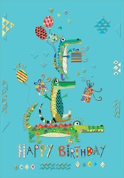 Alligators - Birthday Cards