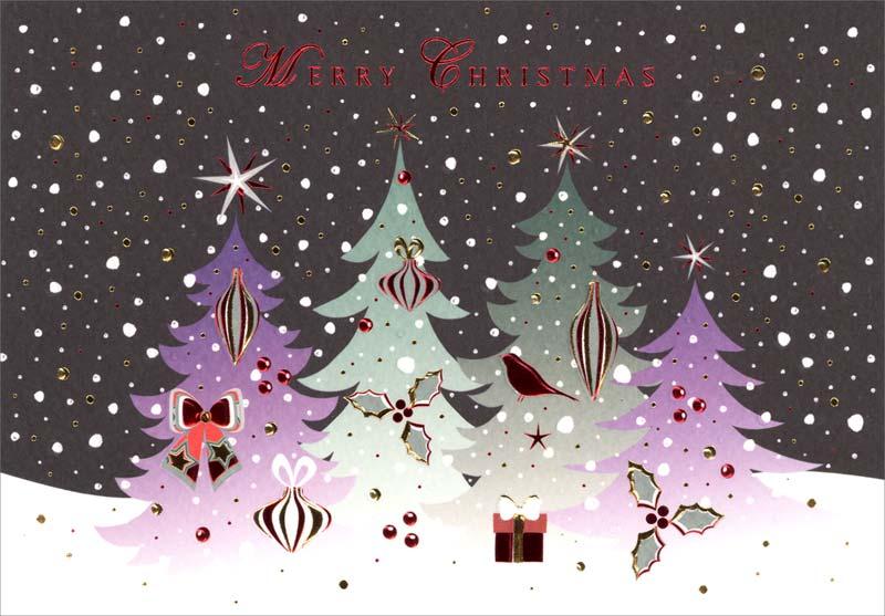 turnowsky  trees  christmas card mo7651