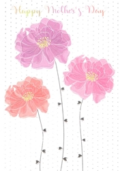 Three Flowers - Mothers Day Card