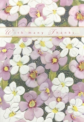 Pansies - Thank You Card Thank You